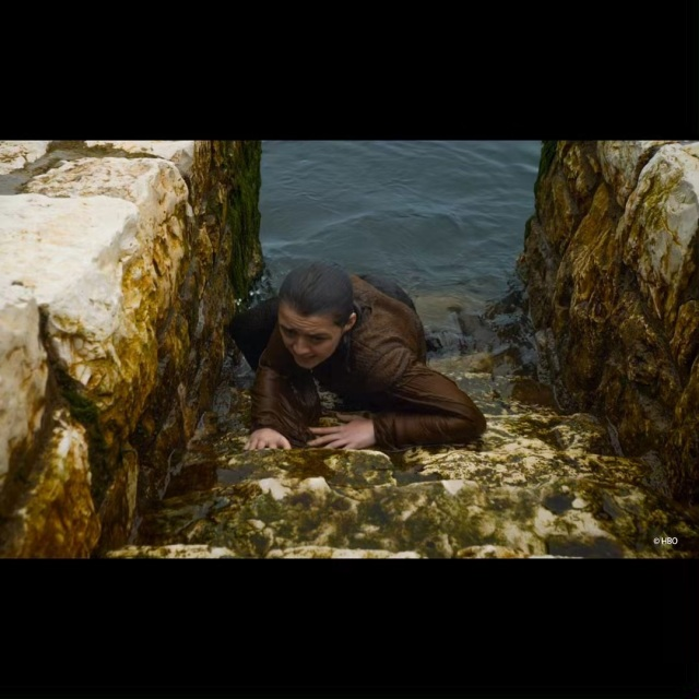 Image result for arya stark coming out of the water in carnlough