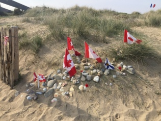 Canadian flags at Juno Beach